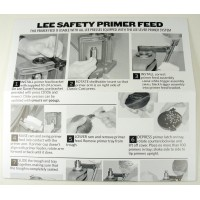 Lee Precision Instructions Safety Primer Feed prior to 2012
