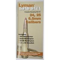 Lyman Load Data Book 24, 25, 6.5mm Calibers