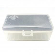Plastic Ammo Box Medium Pistol 50 Round Clear