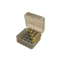 "MTM Case-Gard Flip-Top Shotshell Box 12 or 20 Gauge 2-3/4"" and 3"" 25-Round Smoke"