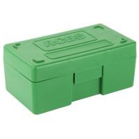 RCBS Medium Pistol Ammo Box, For .38 Special, 357 Mag, Green 86905