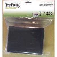 Top Brass Large Caliber Pistol - 50 Round Black Plastic Storage Tray