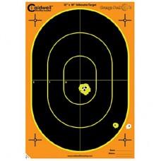 Caldwell Orange Peel Oval Target 12 x 18 5 sheets