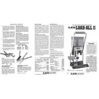 Lee Precision Load All Instruction Sheet