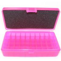FS Reloading Plastic Ammo Box Automatic Pistol 50 Round Translucent Pink