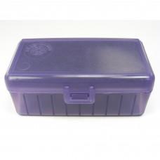 FS Reloading Plastic Ammo Box Automatic Pistol 50 Round Translucent Purple