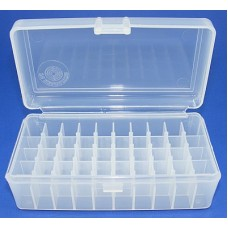 FS Reloading Plastic Ammo Box Large Pistol 50 Round Clear