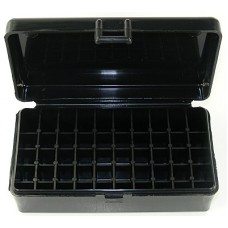 FS Reloading Plastic Ammo Box Large Pistol 50 Round Solid Black