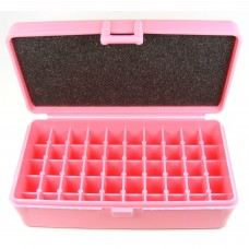 FS Reloading Plastic Ammo Box Large Pistol 50 Round Solid Pink