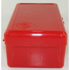 FS Reloading Plastic Ammo Box Large Pistol 50 Round Solid Red