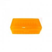 FS Reloading Plastic Ammo Box Large Pistol 50 Round Translucent Amber