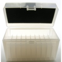 FS Reloading Plastic Ammo Box Large Rifle 50 Round Clear