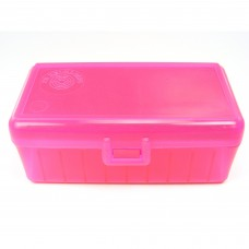 FS Reloading Plastic Ammo Box Medium Pistol 50 Round Translucent Pink
