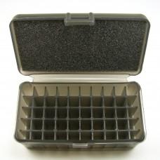 FS Reloading Plastic Ammo Box Medium Pistol 50 Round Translucent Smoke