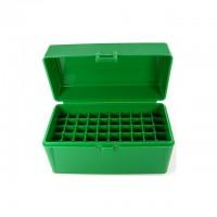 FS Reloading Plastic Ammo Box Medium Rifle 50 Round Solid Green