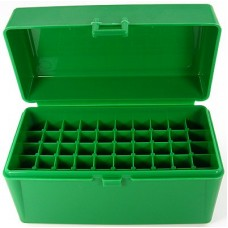 FS Reloading Plastic Ammo Box Medium Rifle 50 Round Solid Green