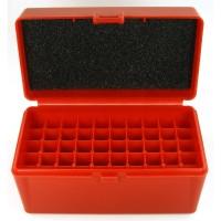 FS Reloading Plastic Ammo Box Medium Rifle 50 Round Solid Red