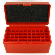FS Reloading Plastic Ammo Box Medium Rifle 50 Round Solid Red
