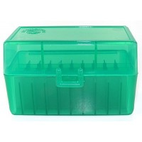 FS Reloading Plastic Ammo Box Small Rifle 50 Round Translucent Green