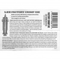 Lee Precision Factory Crimp Die Instructions .243 Winchester