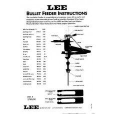 Lee Precision Instructions Bullet Feeders
