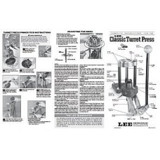 Lee Precision Instructions Classic Turret Press
