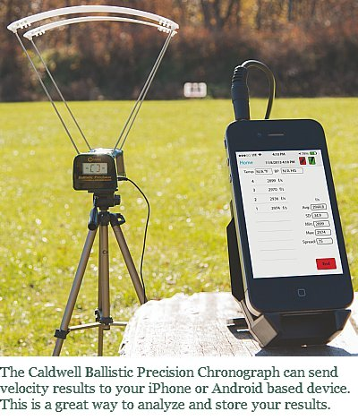 The Caldwell Ballistic Precision Chronograph can send velocity data to your smart phone