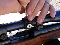 Adjusting the scope on my Ruger .243 rifle