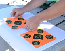 Applying Caldwell Orange Peel Targets to the target backer