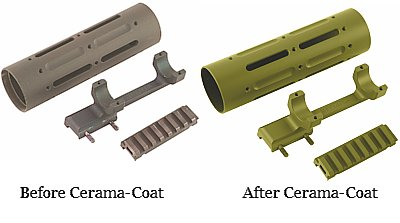 Parts before and after Cerama-Coat