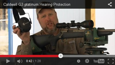 Caldwell G3 Platinum Hearing Protection