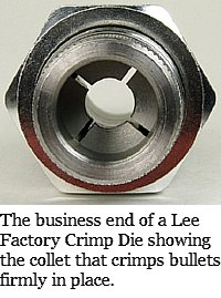 Lee Factory Crimp Die end view showing collet detail