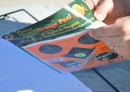 Opening a package of Caldwell Orange Peel Targets