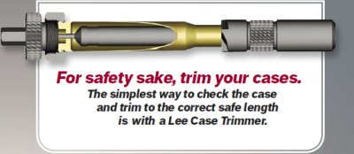 For safety sake, trim your cases